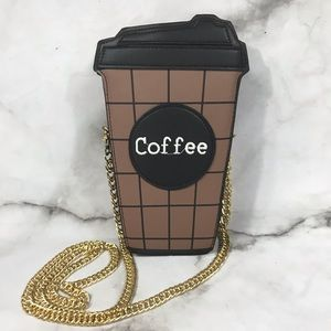 Handbags - LAST ONE Coffee cup mini purse